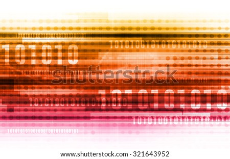 Binary Code and Data Background Online as Concept - stock photo