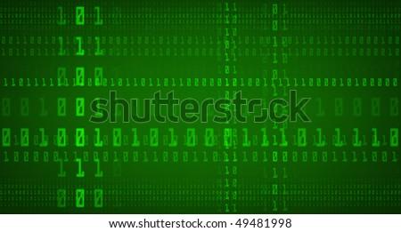 Binary Code Background - stock photo