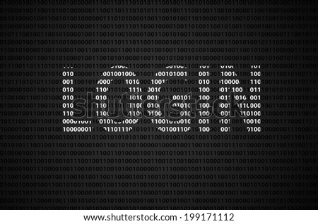 """Binary code concept with """"LOGIN"""" text appear on white binary code - stock photo"""