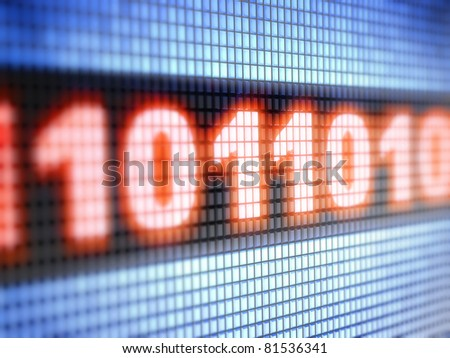 binary code  Full collection of icons like that is in my portfolio - stock photo