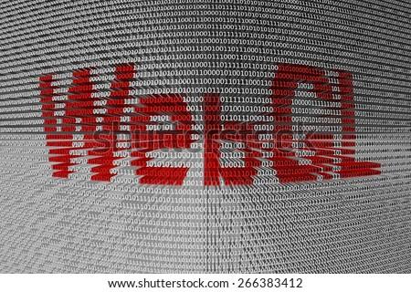 binary code webgl - stock photo