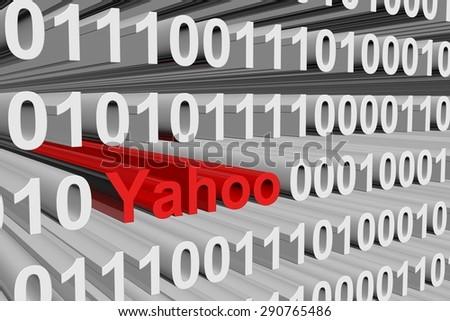 binary code yahoo - stock photo