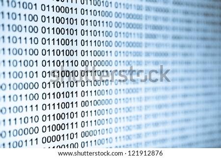 Binary data - stock photo