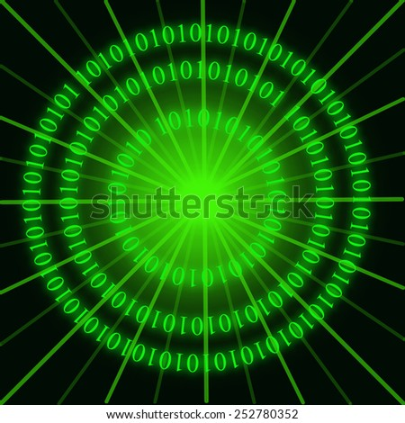 Binary rings - stock photo