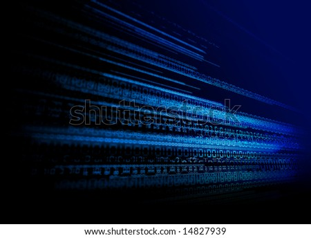Binary Tech Background - stock photo