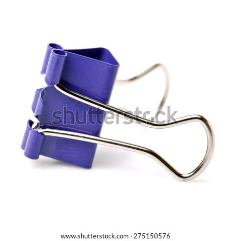 binder clips isolated on white background