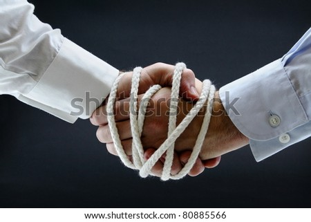 Binding contract - stock photo