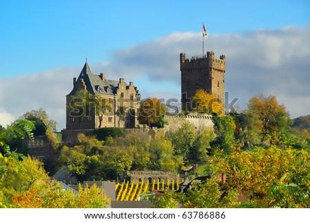 Bingen castle Klopp - stock photo