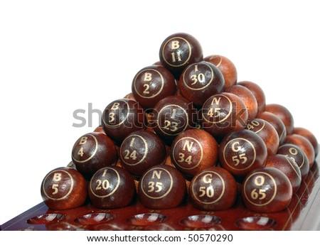 bingo balls - stock photo