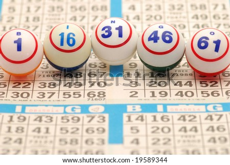 Bingo Spelled on Card - stock photo