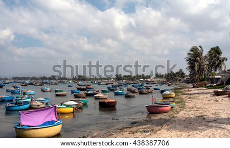 Binh Thuan, Vietnam, June 28, 2015 fishermen in Binh Thuan, Vietnam, on the fishing season