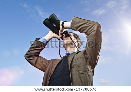 binoculars 07 - stock photo
