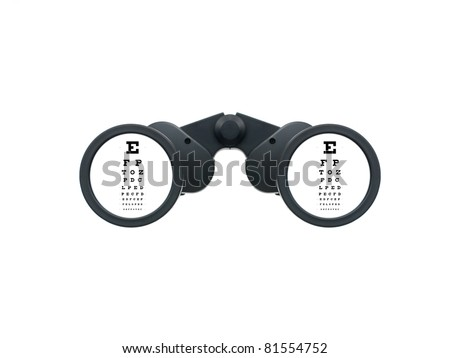 Binoculars isolated against a white background