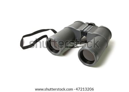 Binoculars isolated on a white background - stock photo