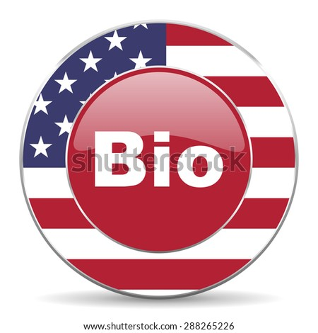bio american icon original modern design for web and mobile app on white background  - stock photo