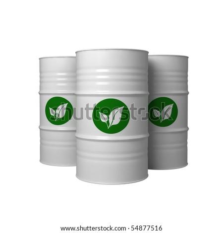 bio fuel in barrels - stock photo