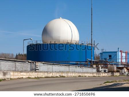 Bio gas plant - stock photo