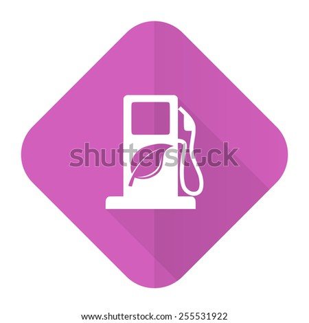 biofuel pink flat icon bio fuel sign  - stock photo