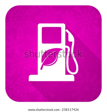 biofuel violet flat icon, christmas button, bio fuel sign  - stock photo