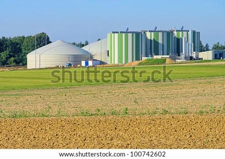 biogas plant 83 - stock photo