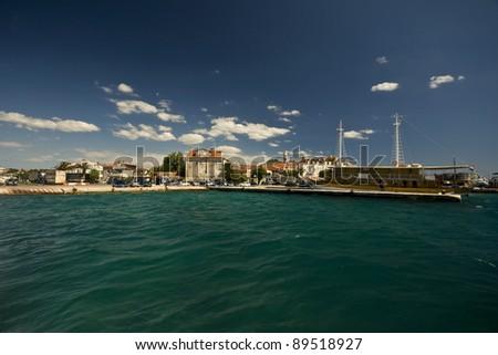 Biograd na moru waterfront - stock photo