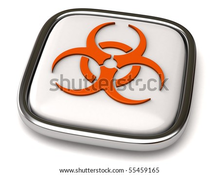Biohazard icon - stock photo
