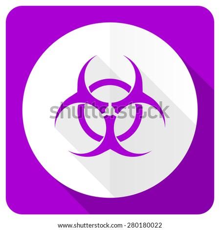 biohazard pink flat icon virus sign  - stock photo