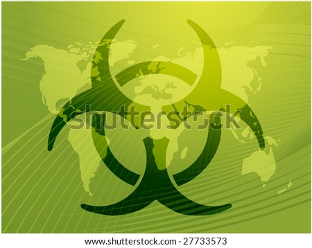 Biohazard sign, warning alert for hazardous bio materials - stock photo