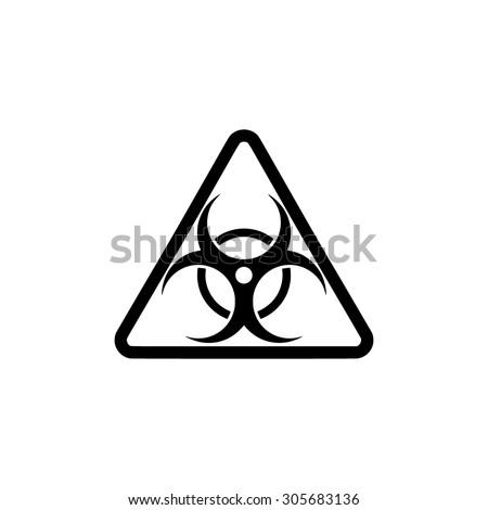 Biohazard. Simple black flat pictogram on white background - stock photo