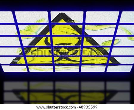biohazard substance - stock photo