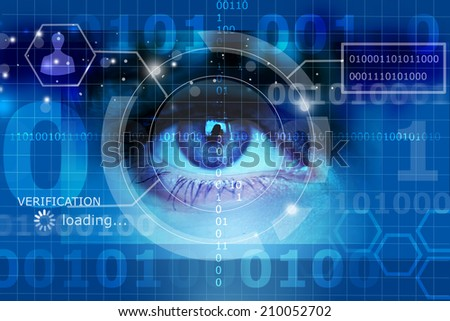 biometric screening eye - stock photo