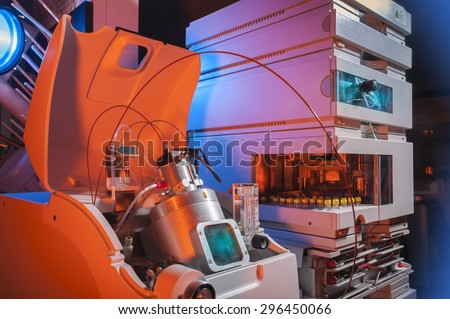 Biotechnology laboratory hardware equipment - stock photo