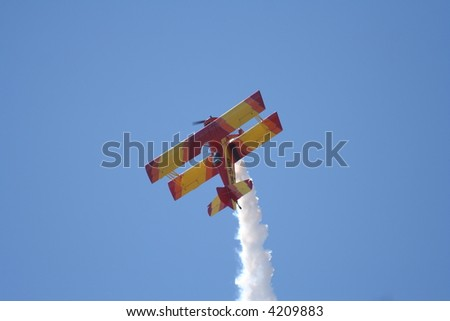 biplane at airshow - stock photo