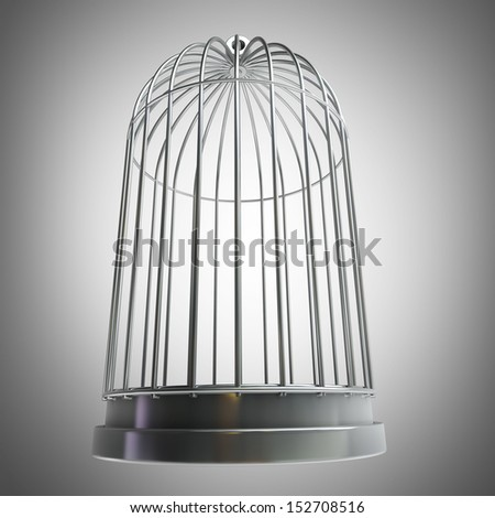 Bird cage High resolution 3d  - stock photo