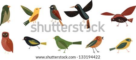 Bird fly - stock photo