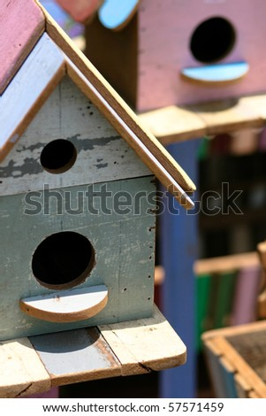 Bird house. - stock photo