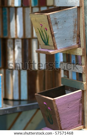 Bird house family. - stock photo