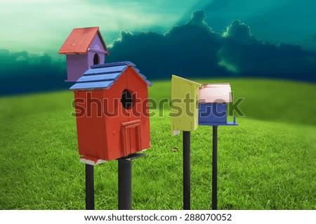 bird Houses - stock photo