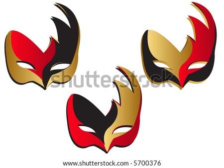 Bird Masks - stock photo