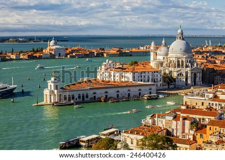 bird's eye view of Venice. Italy.  - stock photo