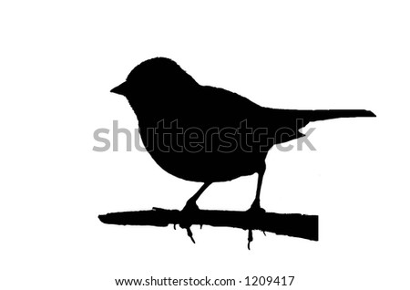 Bird Silhouette: Sparrow