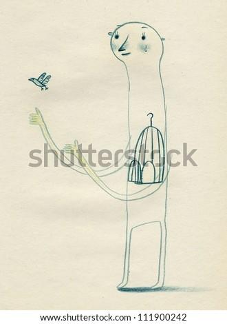 Birdcage - stock photo