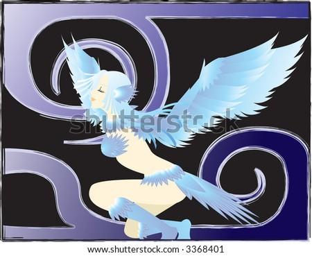 birdgirl - stock photo