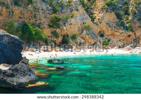 Biriola beach near Baunei, east coast of Sardinia, Italy - stock photo