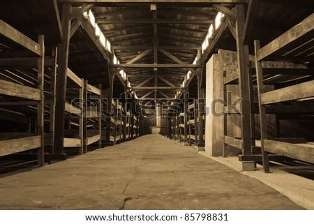 Birkenau - stock photo