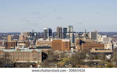 Birmingham, Alabama skyline - stock photo