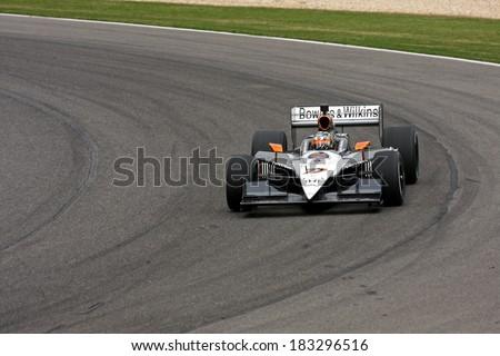 Birmingham Alabama USA - April 10, 2011: #77 Alex Tagliani, Canada Sam Schmidt Motorsports, Grand Prix of Alabama. - stock photo
