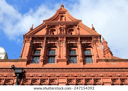 Birmingham in West Midlands, England. Methodist Central Hall - listed terracotta building. - stock photo