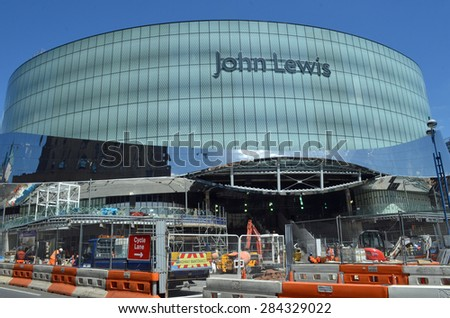 Birmingham, UK - June 4: construction of the new John Lewis store in Birmingham, UK on June 4, 2015. The store is due to open in September 2015 and will be the largest outside London.