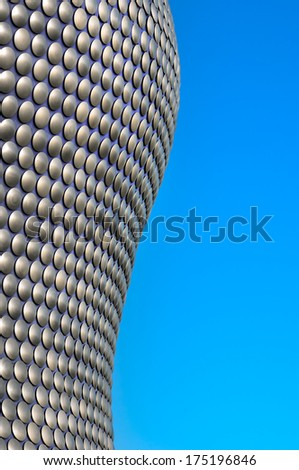 BIRMINGHAM, UK - NOVEMBER 30 : Bullring building detail November 30, 2011 in Birmingham, UK. The building was opened in 2003 and is among most recognized contemporary buildings in the UK and Europe.  - stock photo